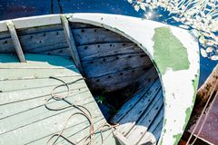 Old fishing wooden rowboat Royalty Free Stock Photography