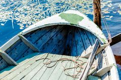 Old fishing wooden rowboat Royalty Free Stock Photos