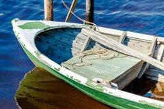 Old fishing wooden rowboat Stock Image