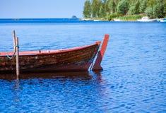 Old fishing wooden rowboat Royalty Free Stock Image