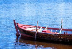 Old fishing wooden rowboat Stock Photography
