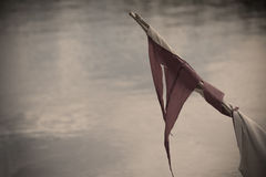 Old flag in vintage tone Stock Photography