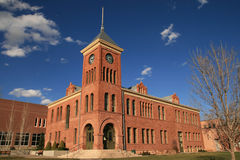 Old Flagstaff Courthouse. The old 1894 Flagstaff sandstone courthouse, Flagstaff, Arizona Royalty Free Stock Photography