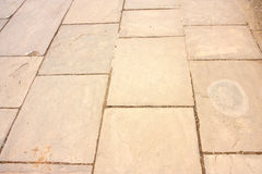 Old flagstone pavement Royalty Free Stock Photography