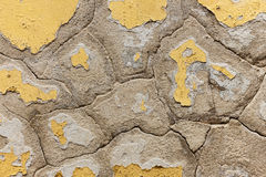 Old flaking color on a wall stock photos