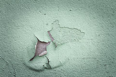 Old flaking color on a wall in vintage Royalty Free Stock Photo