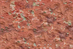 Old flaky wall. Old flaky red paint peeling off cracked wall, seamless, tiling Royalty Free Stock Photos