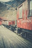 Old Flamsbana train carriage Royalty Free Stock Images