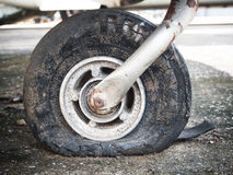 Old flat tire Stock Images