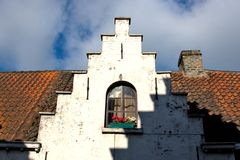 Old Flemish House in Brugge Royalty Free Stock Image
