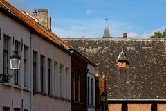 Old Flemish Houses in Brugge Royalty Free Stock Image