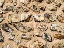Old Flint Wall Royalty Free Stock Image