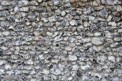 Old Flintstone Wall. Flint stone wall on old church England Stock Image