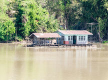 Old Floating house Royalty Free Stock Photo