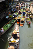Old Floating Market in Thailand Stock Photography