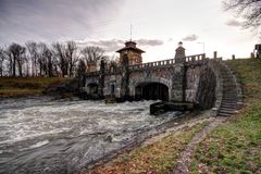 Old floodgate Royalty Free Stock Photography