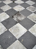 Old Floor. Old Black and White dirty floor Royalty Free Stock Image