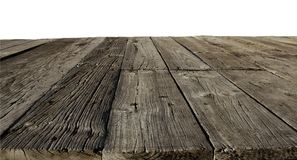 Old floor boards. Closeup of old wooden floor boards Stock Photography