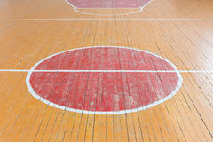 Old floor in the gym Royalty Free Stock Images