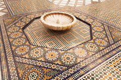 Old floor mosaic n the museum of Marrakesh Stock Image