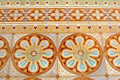 Old floor tiles patterns  Royal Palace, Phnom Penh Royalty Free Stock Image
