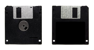 Old floppy disc. Isolated on white background Stock Photo