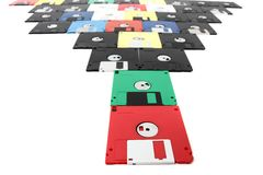 Old floppy discs Royalty Free Stock Photos