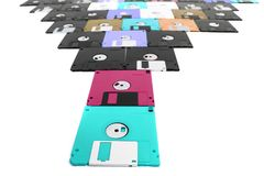 Old floppy discs. As very nice computer color background Stock Image