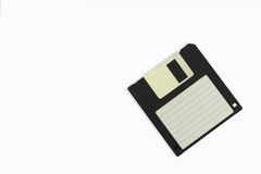 Old floppy disk. Isolated on white background Royalty Free Stock Photos