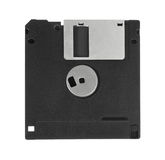 Old floppy disk. Black 5 25 inches floppy disk isolated on a white background Royalty Free Stock Photography