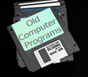 Old floppy disks on a black background Stock Photos