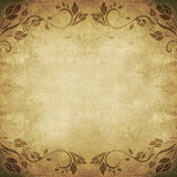 Old  floral abstract background square Stock Photo
