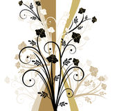 Old floral design. Abstract old floral design with roses Stock Illustration