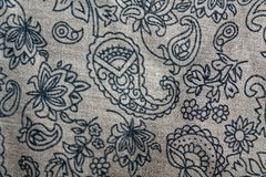 Old floral design on fabric. Background for web site and mobile devices Royalty Free Stock Image