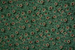 Old floral design on fabric Stock Photography
