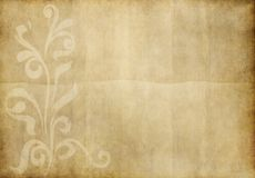 Old floral design paper Royalty Free Stock Photo