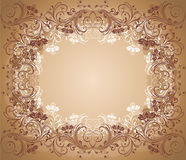 Old floral frame Stock Images