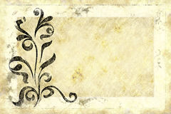 Old floral paper design vector illustration