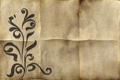 Old floral paper parchment Royalty Free Stock Images