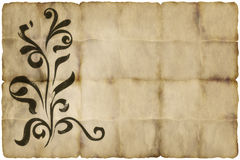 Old floral parchment paper Royalty Free Stock Photography