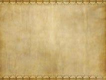 Old floral parchment paper texture Stock Images
