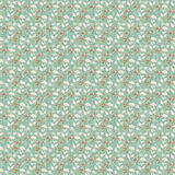 Old floral repeat pattern wallpaper Royalty Free Stock Photography