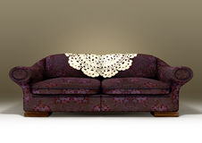Old Floral Sofa Stock Photo