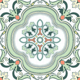 Old floral tiles stock illustration