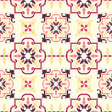 Old floral tiles Stock Photography