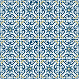 Old floral tiles Royalty Free Stock Photo