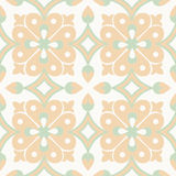 Old floral tiles Stock Photo