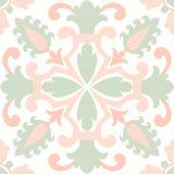 Old floral tiles Stock Photos
