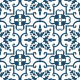 Old floral tiles. Background vintage flower. Seamless floral pattern. Abstract wallpaper. Texture royal vector. Fabric illustration Royalty Free Stock Photography