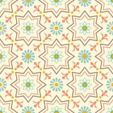 Old floral tiles Royalty Free Stock Images